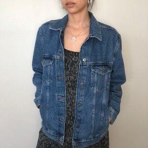 H&M Classic Blue Button Front Denim Jean Jacket